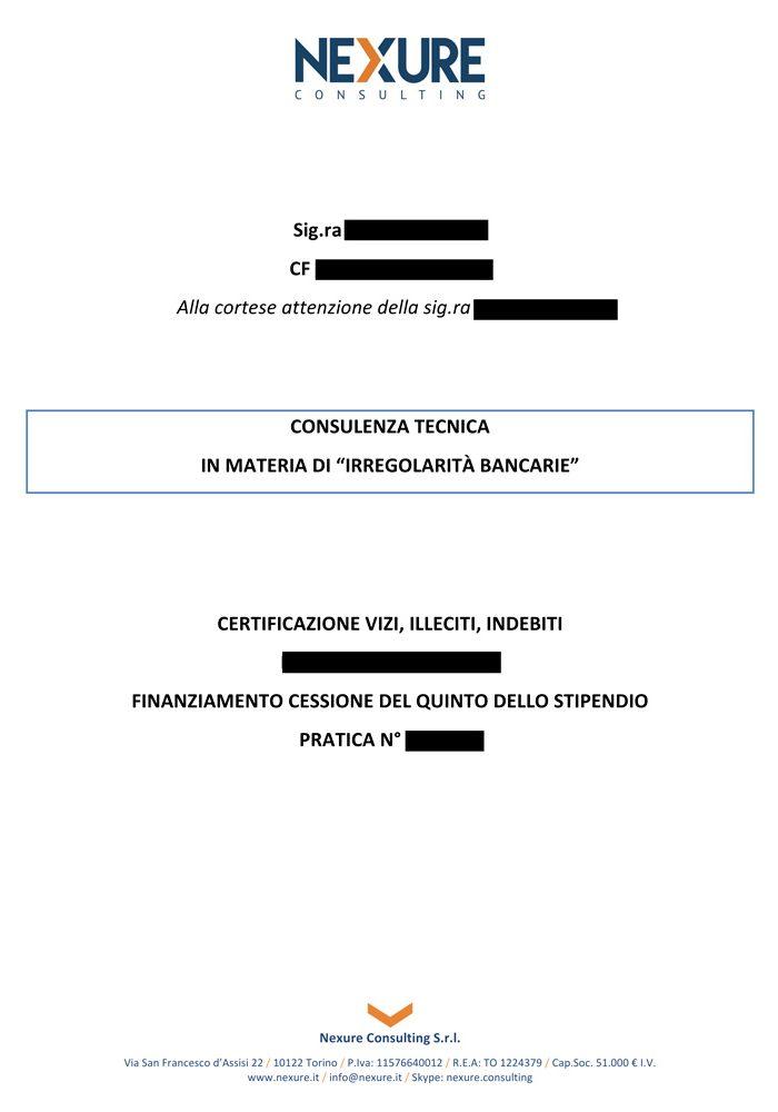 esempio certificazione usura su cessione 5 dello stipendio pagina 1